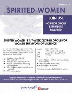 Winter 2019 Spirited Women flyer