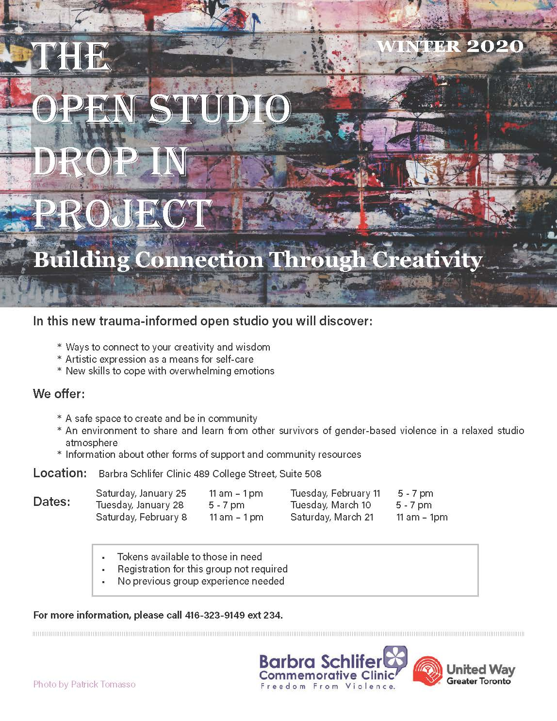 photo of the Open Studio Drop In Project flyer