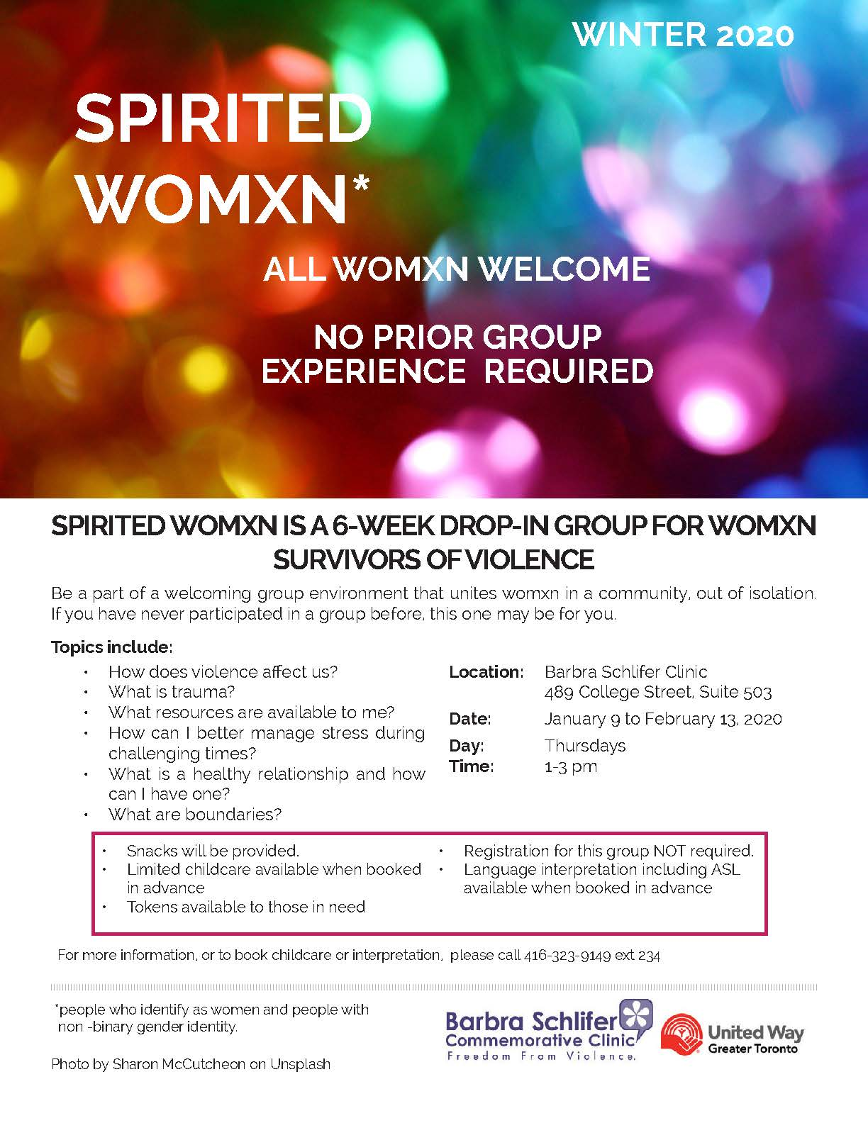 photo of Spirited Womxn flyer